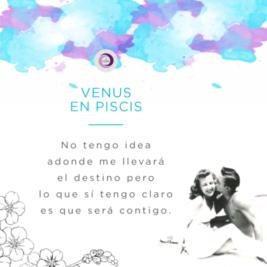 Venus ingresa a Piscis