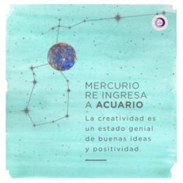 Mercurio Re Ingresa a Acuario
