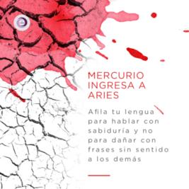 Mercurio Ingresa a Aries
