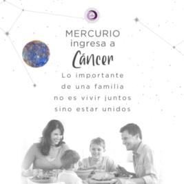 Mercurio ingresa a Cáncer